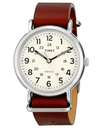 Timex Unisex Weekender Watch With Leather Band