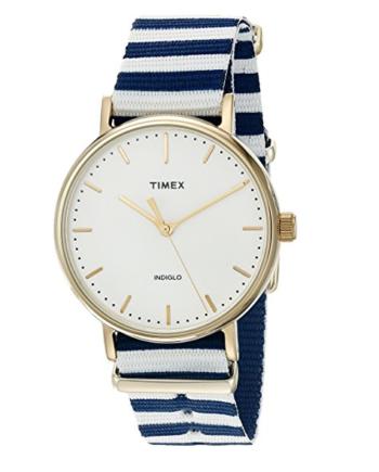 Timex Women's Fairfield Watch Weekender 37mm Slip-Thru Strap