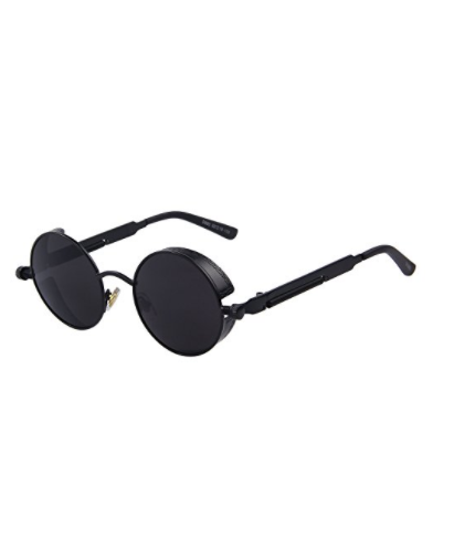 MERRY\'S Gothic Steampunk Sunglasses for Women Men Round Lens Metal ...