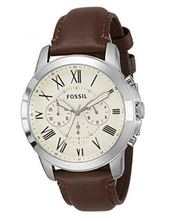 Fossil Grant Chronograph Brown Leather Men's Watch FS4735