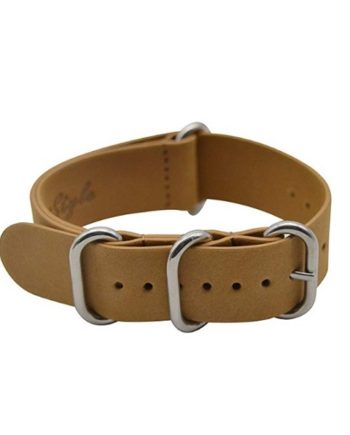 Genuine Leather Replacement Strap NATO By Artsytle 20mm
