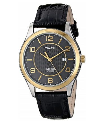 Timex Men's Watch Grand Street Black Dial T2P450