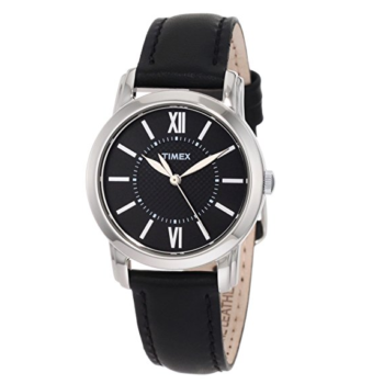 Timex Women's Classic Watch Black Leather Strap T2N6819J