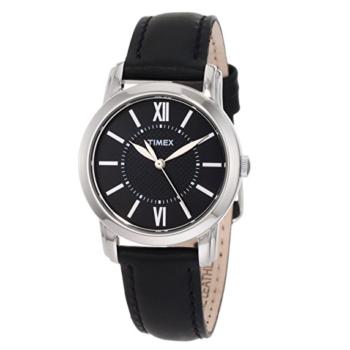 Timex Women's Classic Watch Black Leather Strap T2N6819J