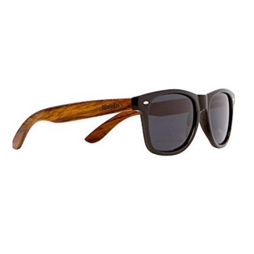 Polarized Wooden Wayfarer Sunglasses Walnut By WOODIES