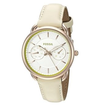 Fossil Tailor Multifunction Light Brown Leather Watch ES3954