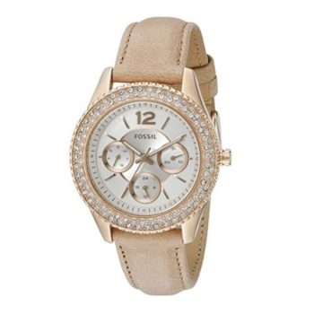 Fossil Stella Multifunction Leather Watch – Light Brown ES3816