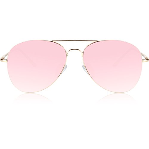 e2aa320195 Home   Women   Accessories   SojoS Classic Aviator Metal Frame Mirror Lens  Sunglasses with Spring Hinges SJ1030