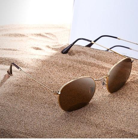 Jim Halo Retro Sunglasses