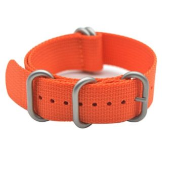 Replacement Nylon Watch Strap and Heavy Duty Brushed Buckle By ArtStyle (20mm)