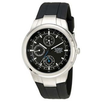 Casio Edifice Multifunction Men's Watch With Black Resin Band EF305-1AV