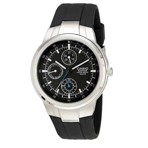 Casio Edifice Multifunction Men's Watch With Black Resin Band  EF305-1AV