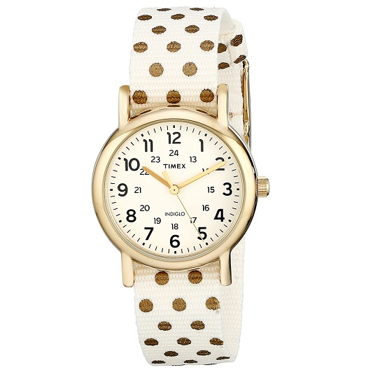 Timex Women's Watch Polka Weekender Slip-Thru Strap TW2R104009J