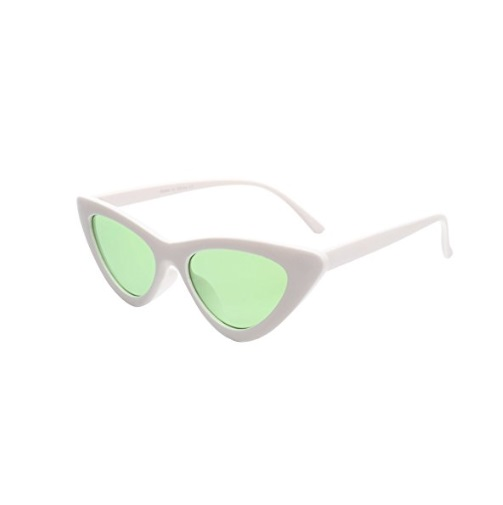 e15a6b4cfe Cramilo Cat Eye Sunglasses Women Vintage Retro Clout Goggles Cateye Sun  Glasses – Green