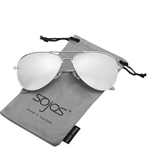 46edb4b88eec8 Home   Women   Sunglasses   SojoS Classic Aviator Polarized Sunglasses  Mirrored UV400 Lens SJ1054
