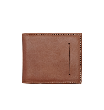 Brown Leather Wallet Bi fold By Suave
