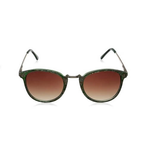 Green floral Round Sunglasses By A.J. Morgan Castro