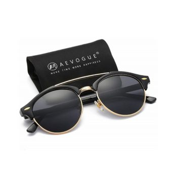 AEVOGUE Polarized Semi-Rimless Retro Unisex Sunglasses