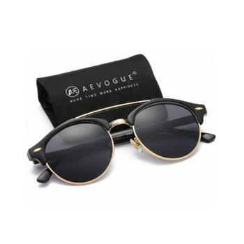 AEVOGUE Polarized Semi-Rimless Retro Unisex Sunglasses