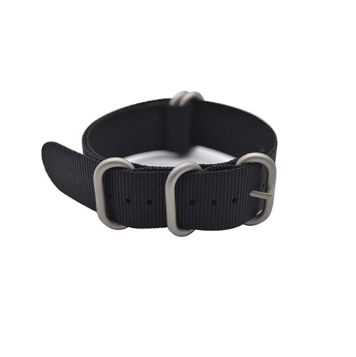 Black Nylon Replacement Strap NATO By Artstyle 20mm