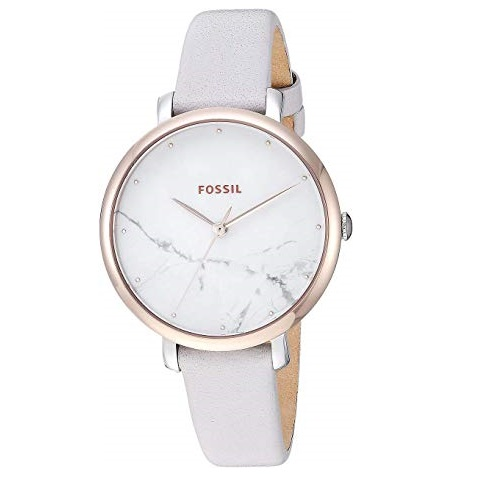 Fossil Jacqueline White Marble Dial Ladies Watch ES4377