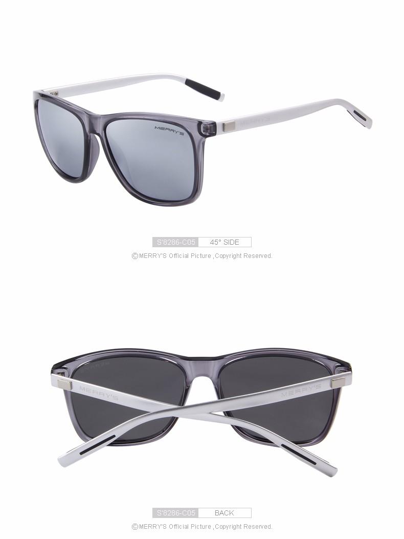 166c7f11f4 Home   Men   Sunglasses   MERRY S Gray Polarized Sunglasses Aluminum Vintage  S8286