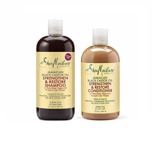 Shea Moisture Strengthen, Grow & Restore Shampoo and Conditioner Set,
