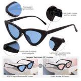 6282ba364734e Home   Women   Sunglasses   SOJOS Clout Goggles Cat Eye Sunglasses Vintage  Mod Style Retro Kurt Cobain Sunglasses SJ2044 Black frame Blue lenses