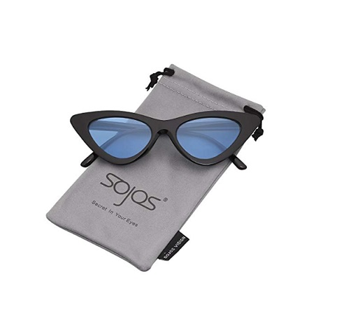 8a2f88329f Home   Women   Sunglasses   SOJOS Clout Goggles Cat Eye Sunglasses Vintage  Mod Style Retro Kurt Cobain Sunglasses SJ2044 Black frame ...
