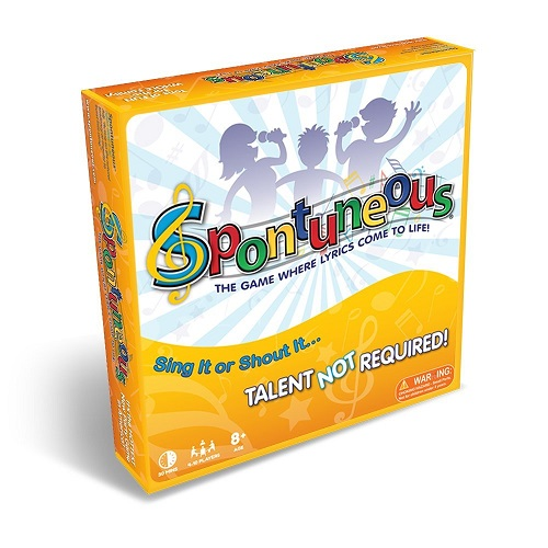Spontuneous - The Song Game - Sing It or Shout It - Talent NOT Required  (Best Family / Party Board Games for Kids, Teens, Adults - Boy & Girls Ages  8