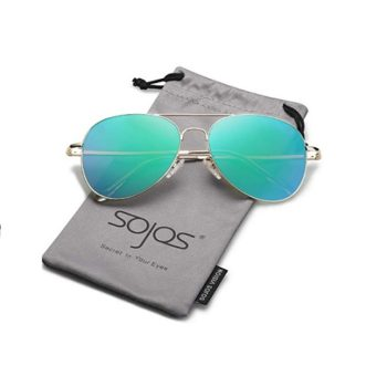 Classic Aviator Green Mirrored