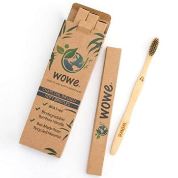 Charcoal Infused Organic Bamboo Toothbrush 4
