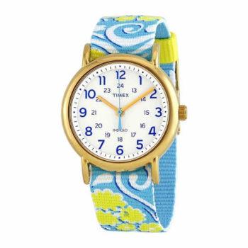 Timex Weekender White Dial Ladies Watch TW2P90100