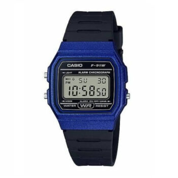 Casio Men's 'Vintage' Quartz Plastic and Resin Casual Watch F-91WM-2ACF Blue (1)