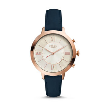Fossil Jacqueline Women Smartwatch Hybrid Navy Leather (1)
