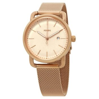 Fossil The Commuter Rose Dial Ladies Watch ES4333 1 (1)