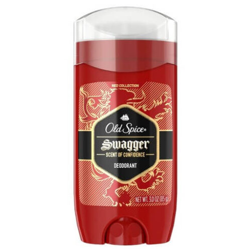 Old Spice Swagger Lime & Cedarwood Scent Aluminum Free Deodorant for Men Red Collection, 3 Oz