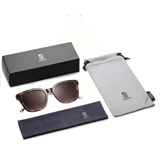 Classic Square Polarized Sunglasses Unisex UV400 By SOJOS 5