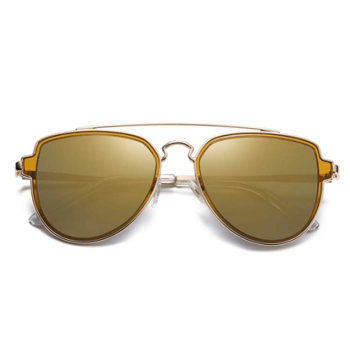 Polarized Aviator Sunglasses Unisex Mirrored Lens By SOJOS 1