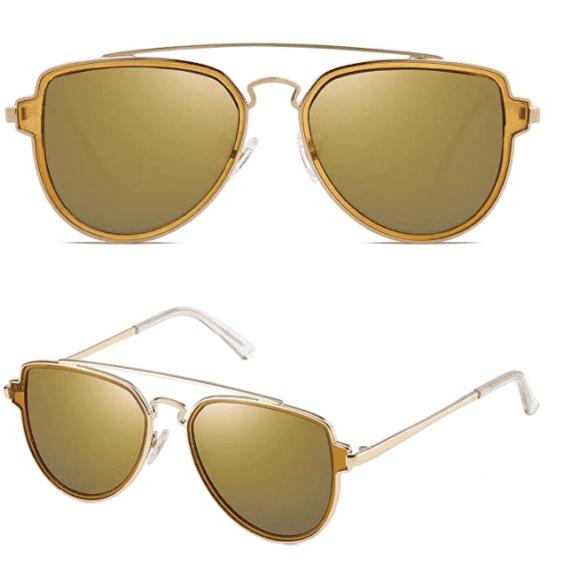 Polarized Aviator Sunglasses Unisex Mirrored Lens By SOJOS 2