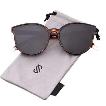 Women Oversized Round Sunglasses By SOJOS 2