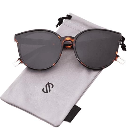 Women Oversized Round Sunglasses By SOJOS 2