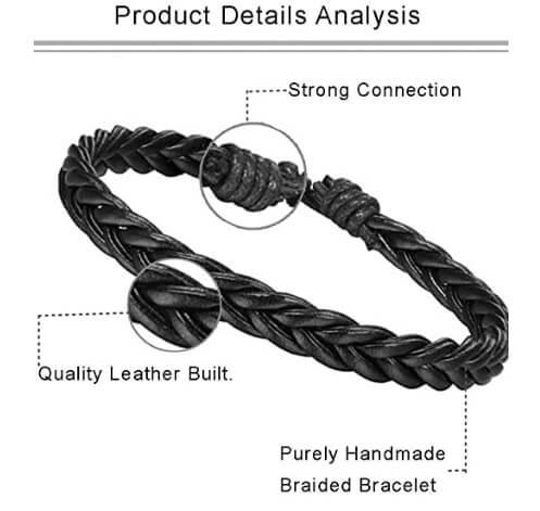 Unisex Woven Leather & Wooden Beaded Bracelets 36Pcs