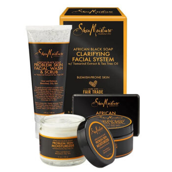 SheaMoisture African Black Soap Facial System Kit 5