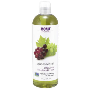 NOW Solutions, Grapeseed Oil Light Silky Moisturizer for All Skin Types 16-Ounce