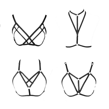 Sexy Bra Harness for Women 4pcs