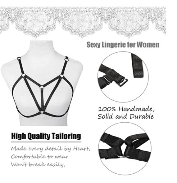Sexy Bra Harness for Women 4pcs
