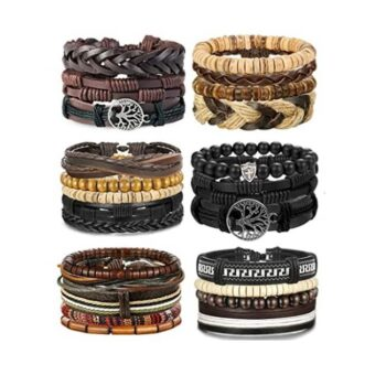 Unisex Woven Leather Bracelets 2