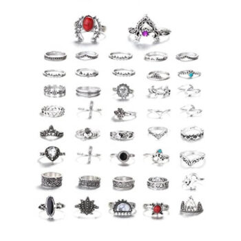 Vintage Knuckle Rings for Women 42Pcs 1