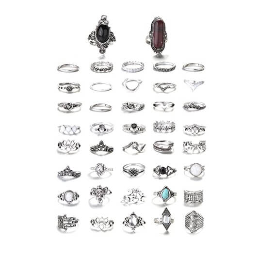 Vintage Knuckle Rings for Women 42Pcs 8
